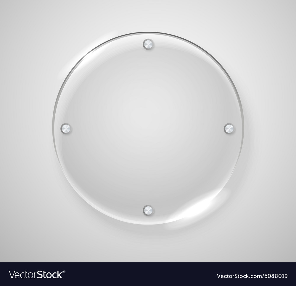 Circle advertising glass board