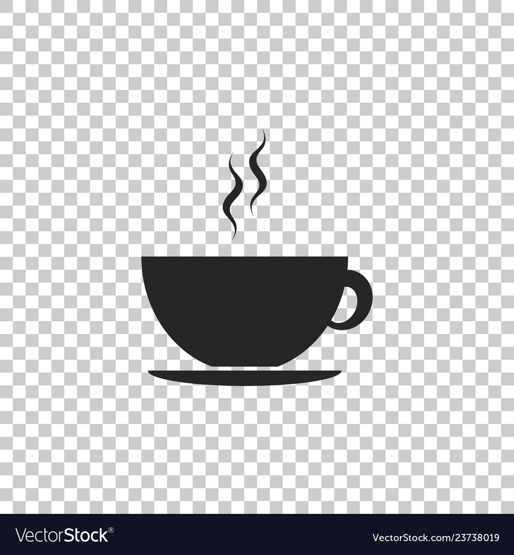 coffee cup icon on transparent background tea cup vector image vectorstock