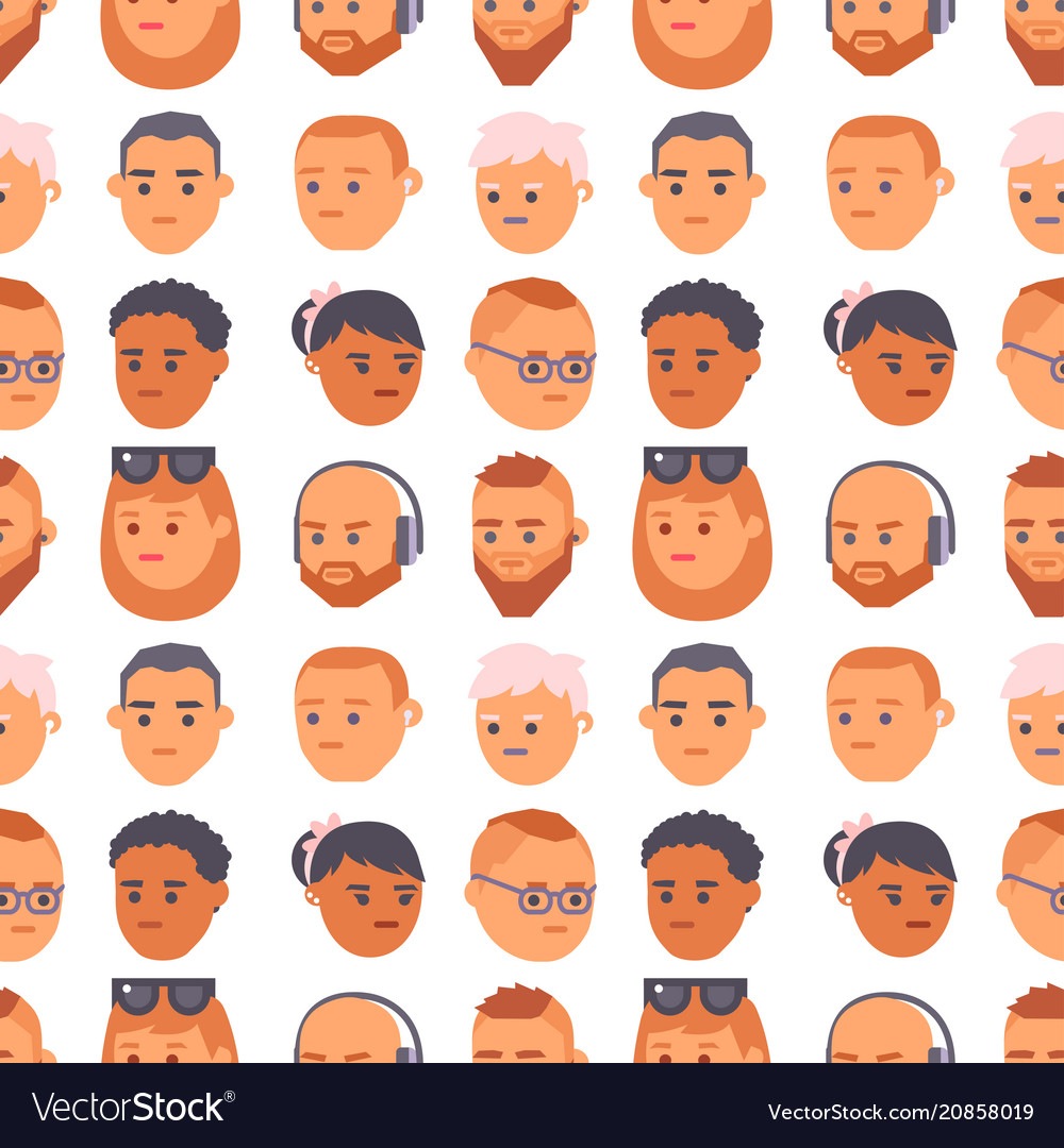 Eemotion people faces cartoon emotions