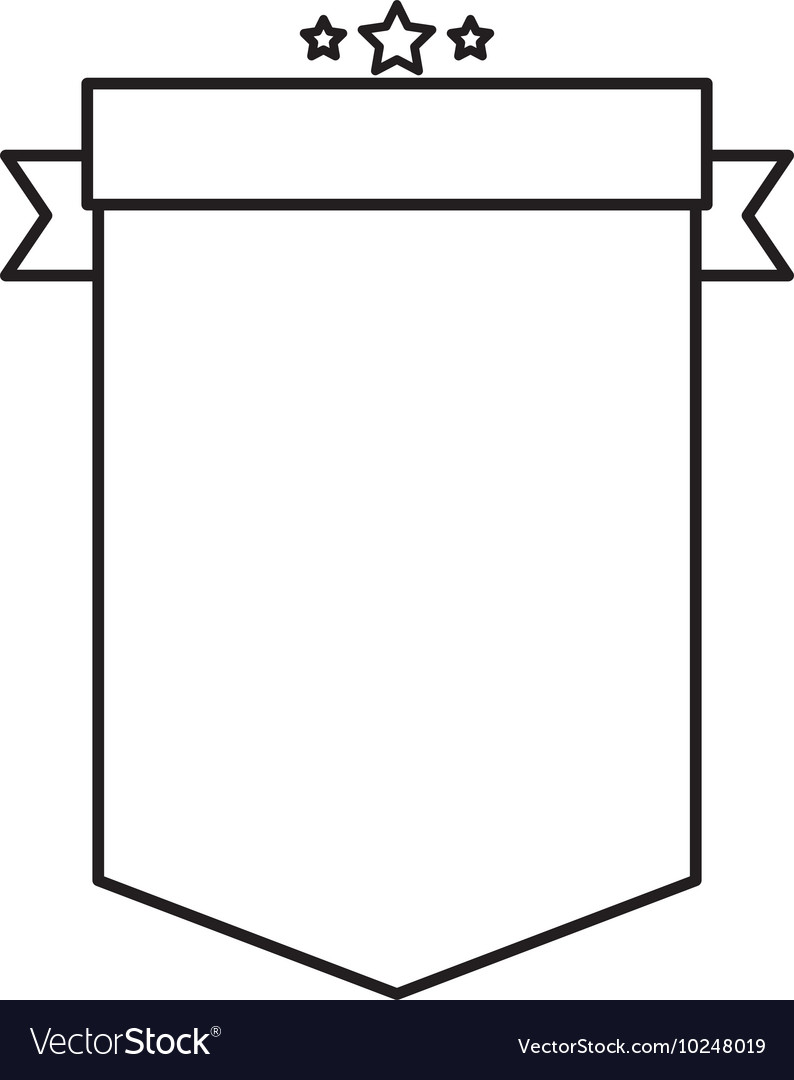 Emblem with ribbon banner icon