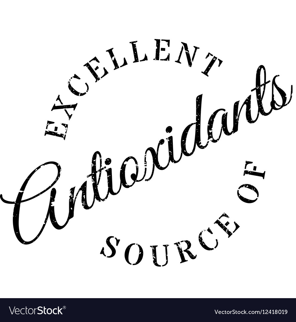 Excellent source of antioxidants stamp vector image