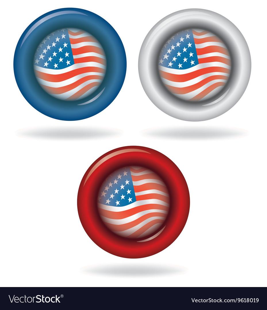 Flag of America Circle shape