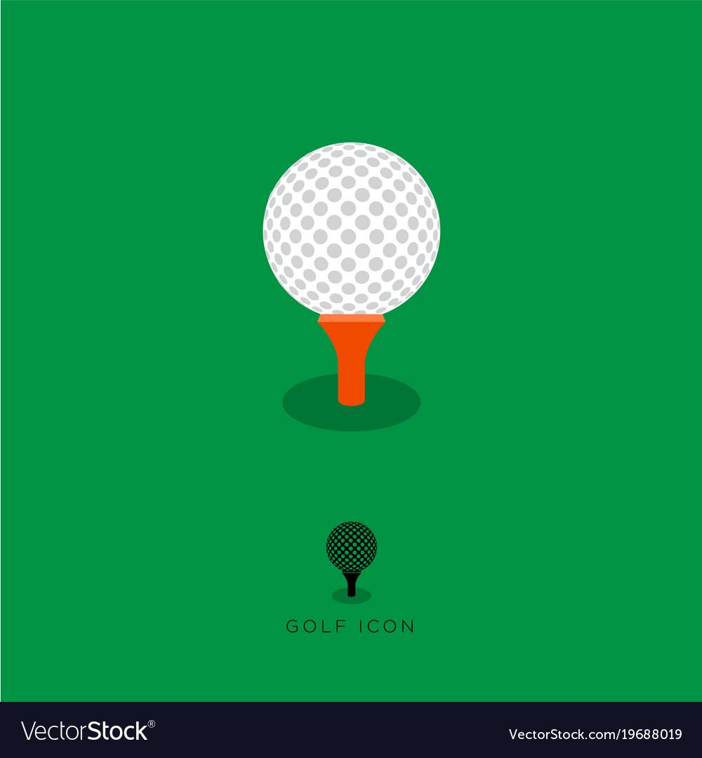 Flat golf icon