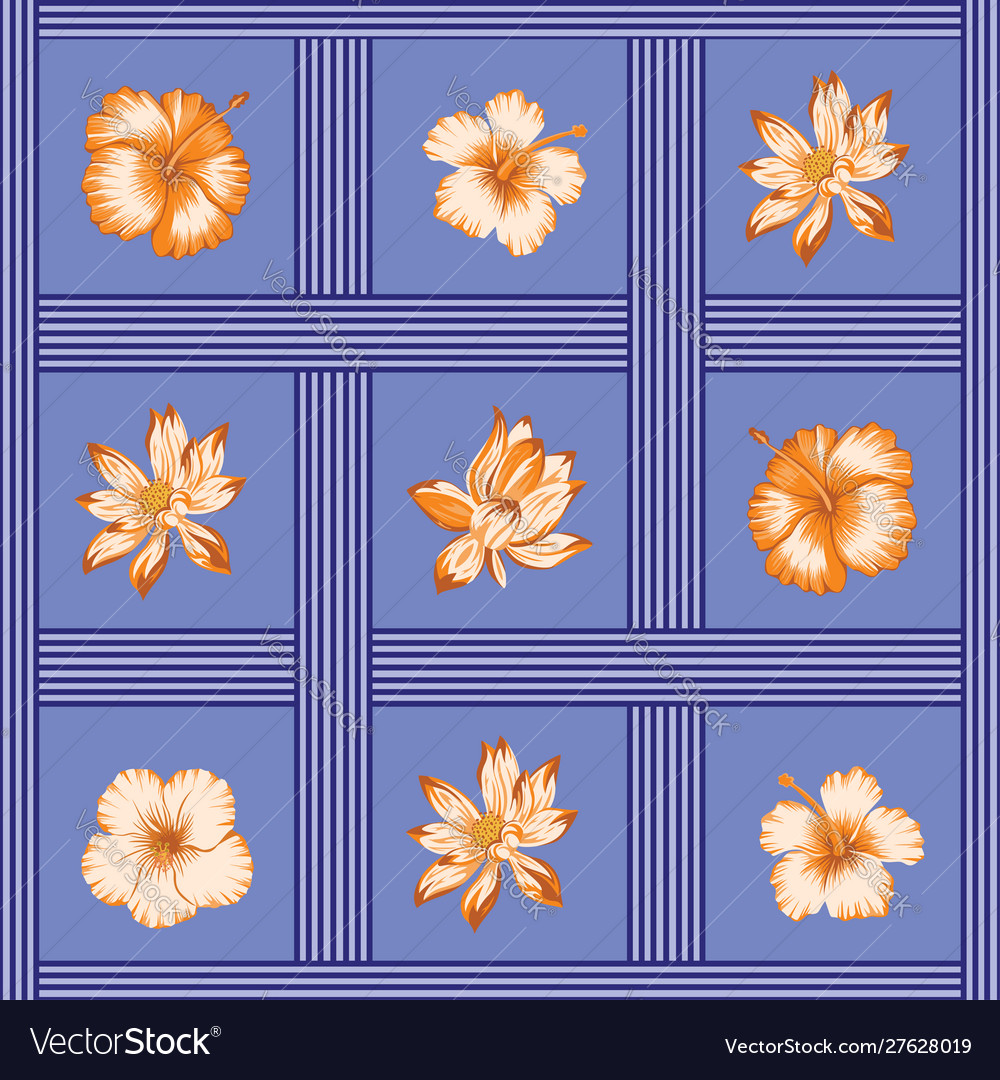 Flowers seamless pattern tropical