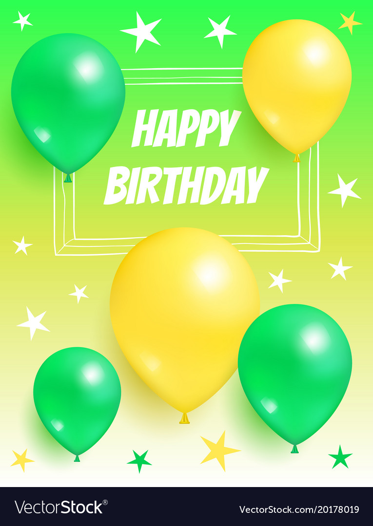 Happy birthday background invitation card balloons happy birthday background invitation card balloons vector image stopboris Gallery