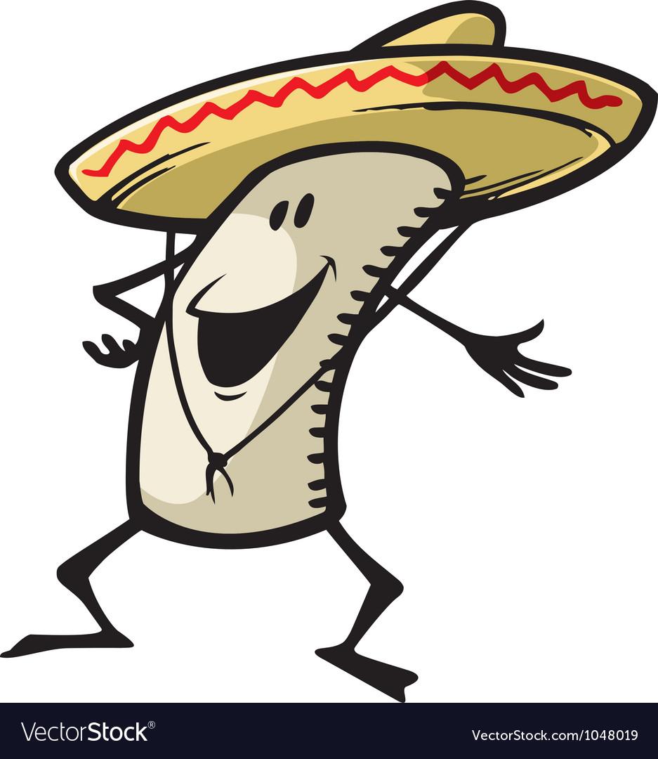 Happy burrito vector image
