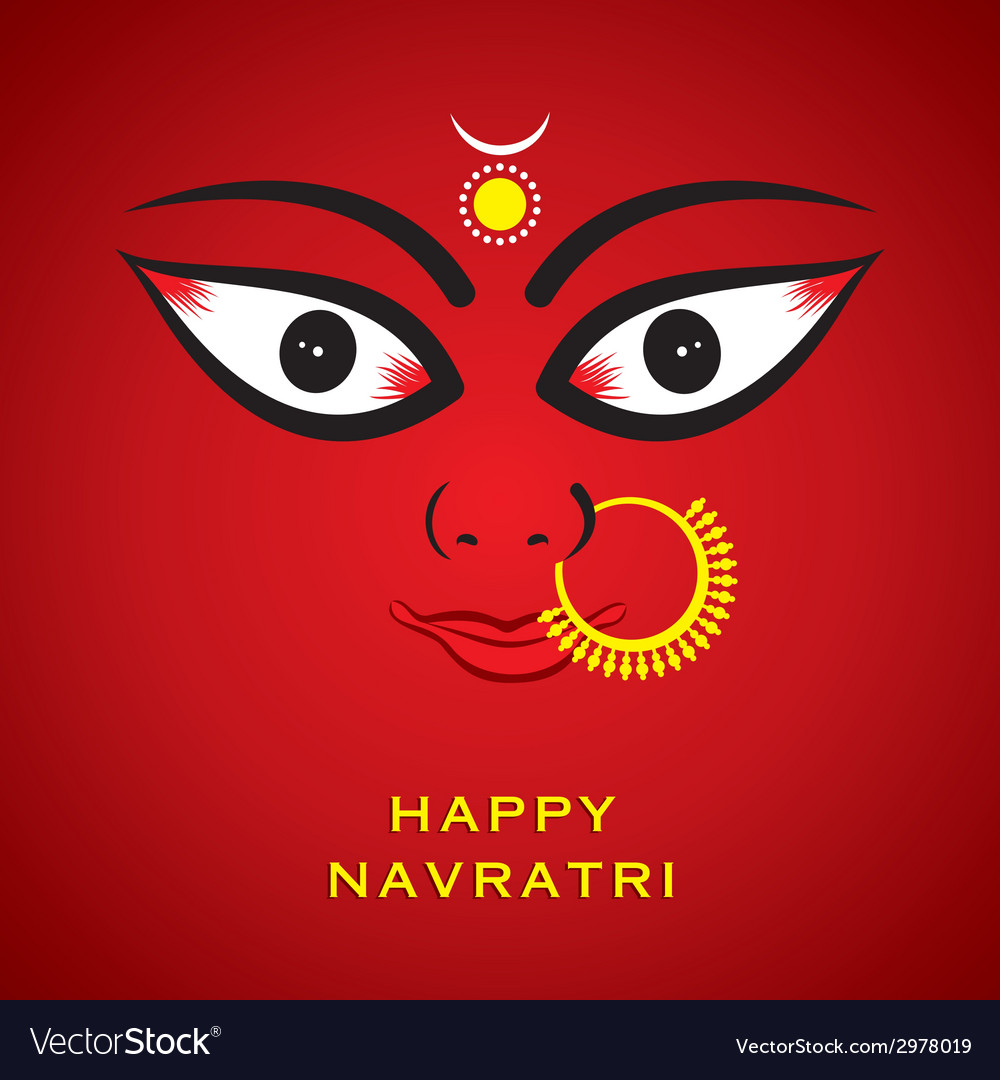 Happy diwali or navratri festival greeting card vector image m4hsunfo