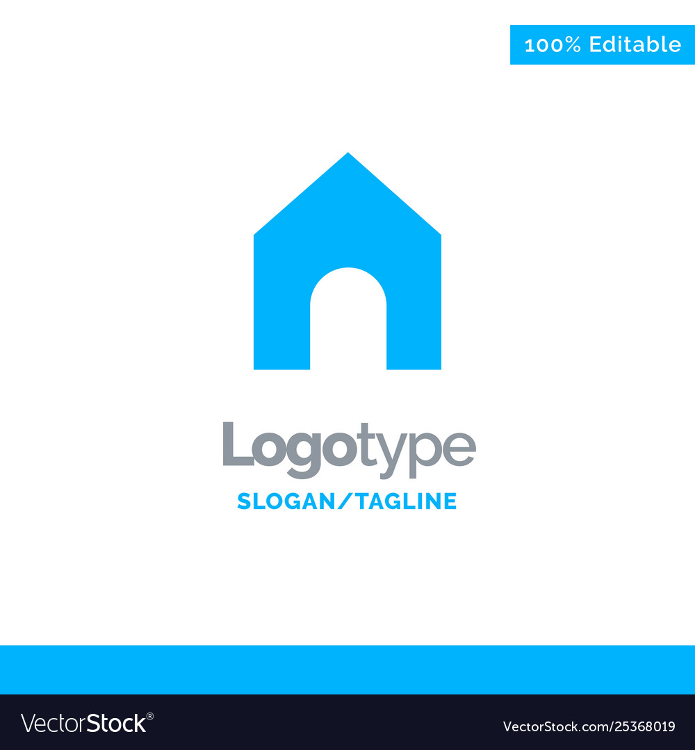 Home instagram interface blue solid logo template