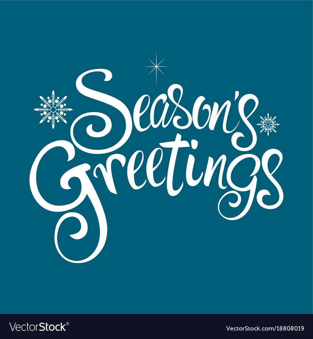 Seasons greetings text royalty free vector image seasons greetings text vector image m4hsunfo