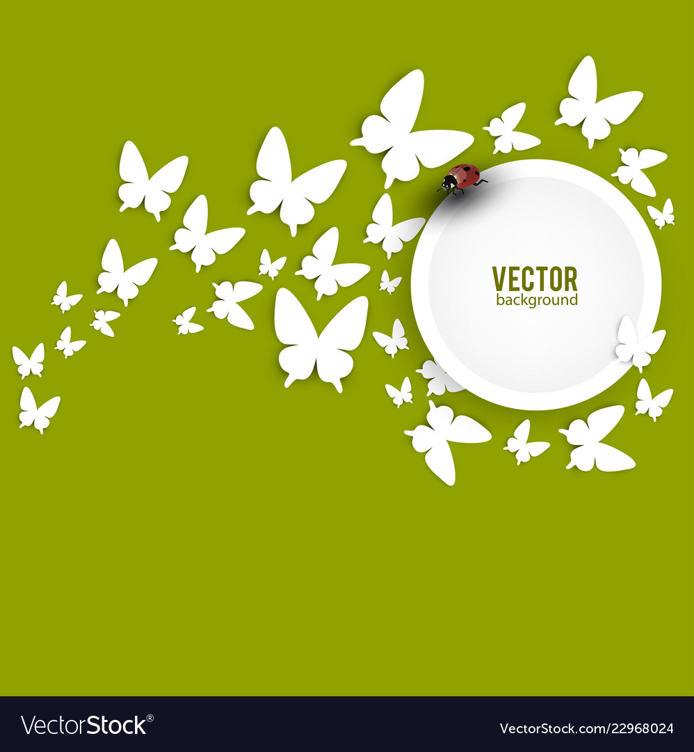 Beautiful summer background with white paper