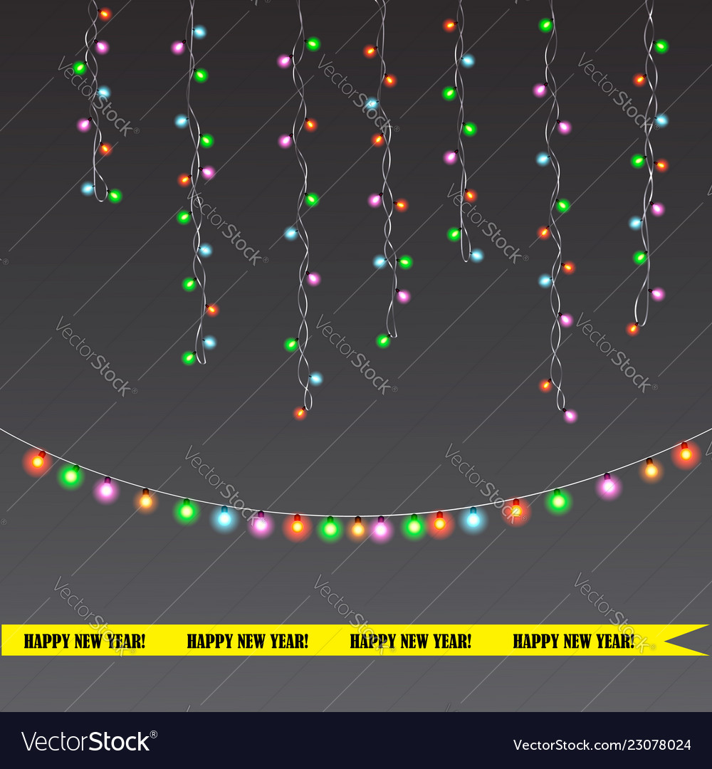 Christmas and new year light garland