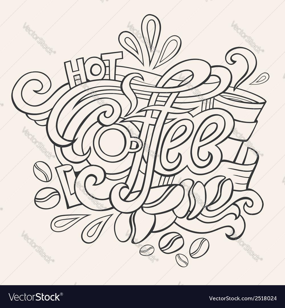 Coffee hand lettering sketch royalty free vector image coffee hand lettering sketch vector image altavistaventures Choice Image
