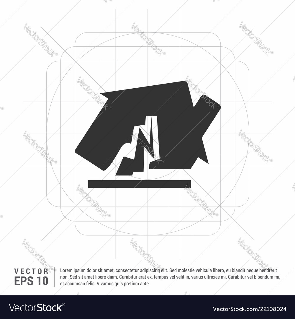 House Accident Icon Royalty Free Vector Image Vectorstock