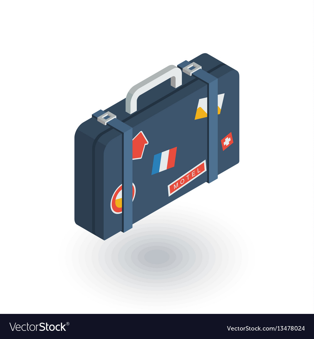 Luggage suitcase travel bag whit stickers