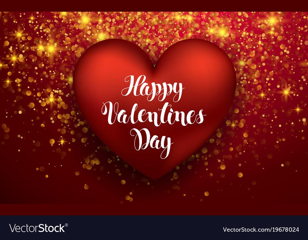 Luxury Elegant Happy Valentine Day Festive Sparkle