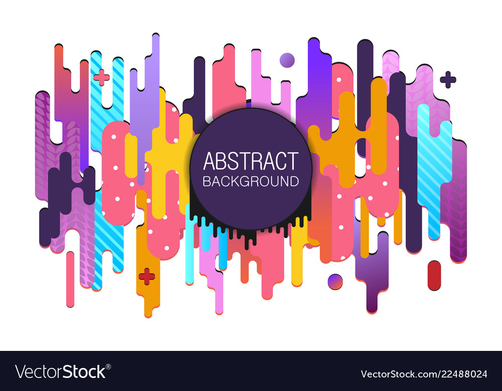 Modern style abstract colorful background