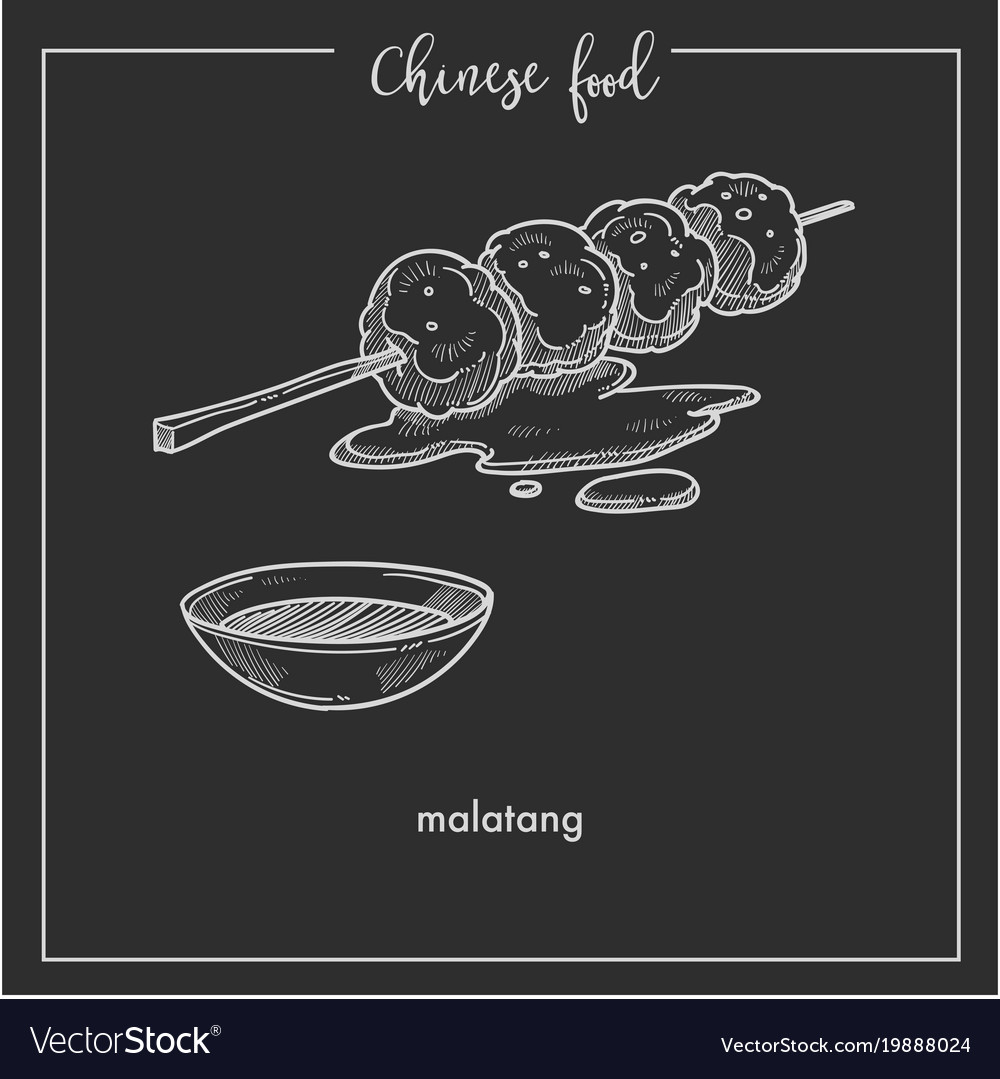 Nutritious tasty matalang from chinese food vector image