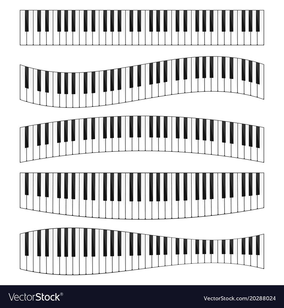 Piano keyboard image set
