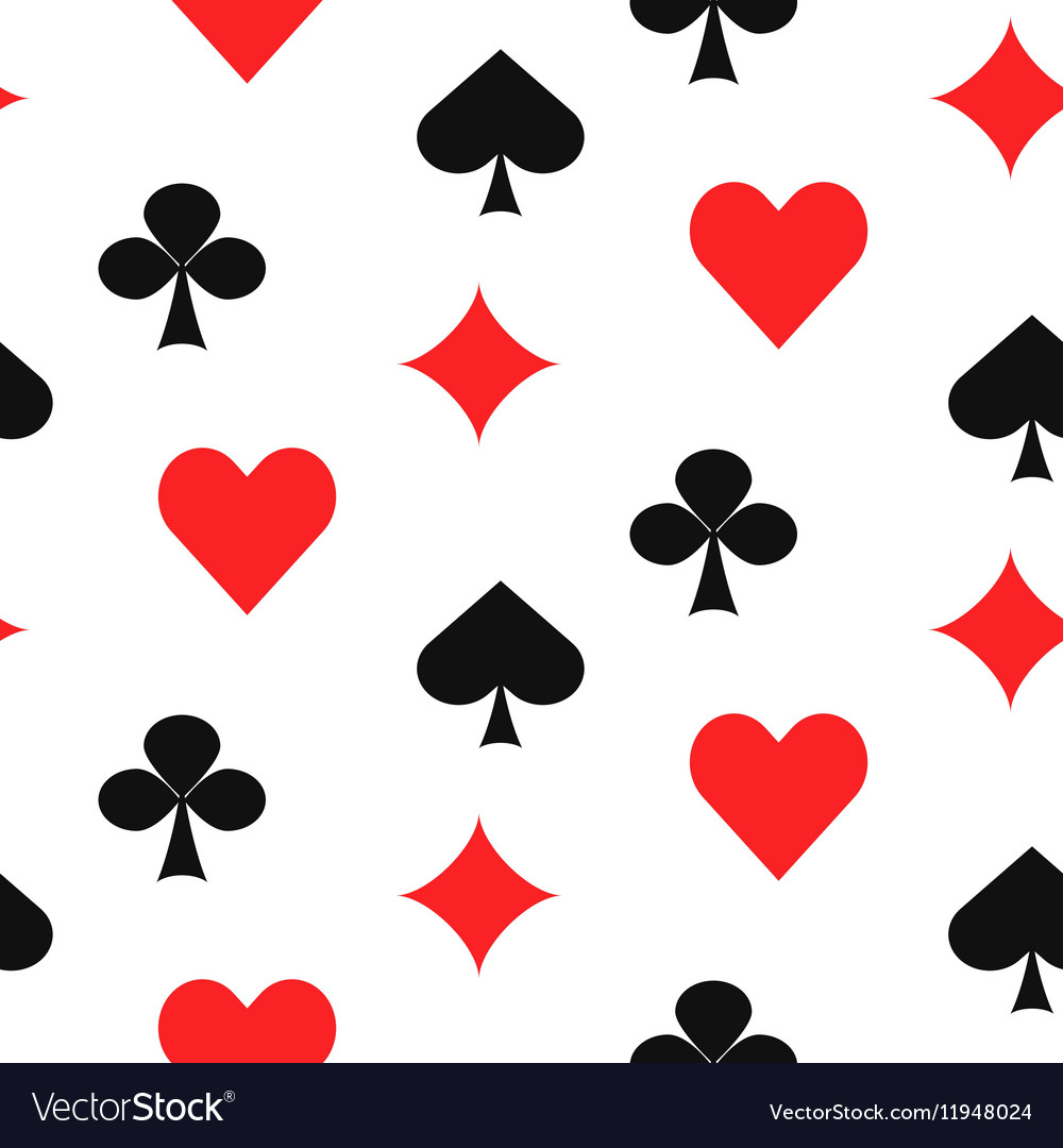 playing card suits seamless pattern royalty free vector rh vectorstock com playing card vector free playing card vector art free