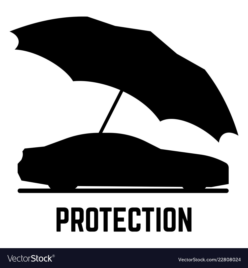 Protection or insurance car and umbrella