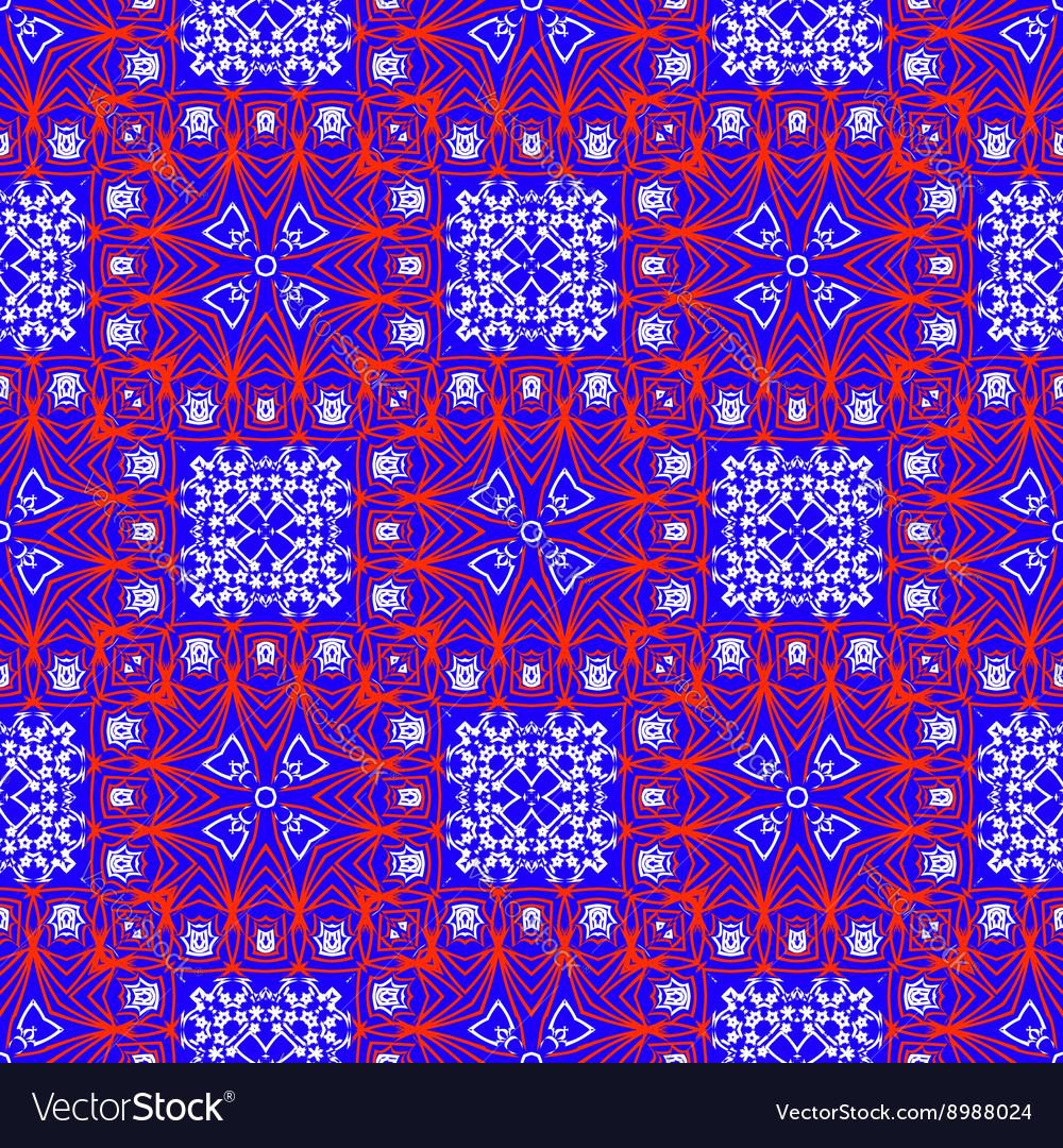 Seamless ethnic print pattern