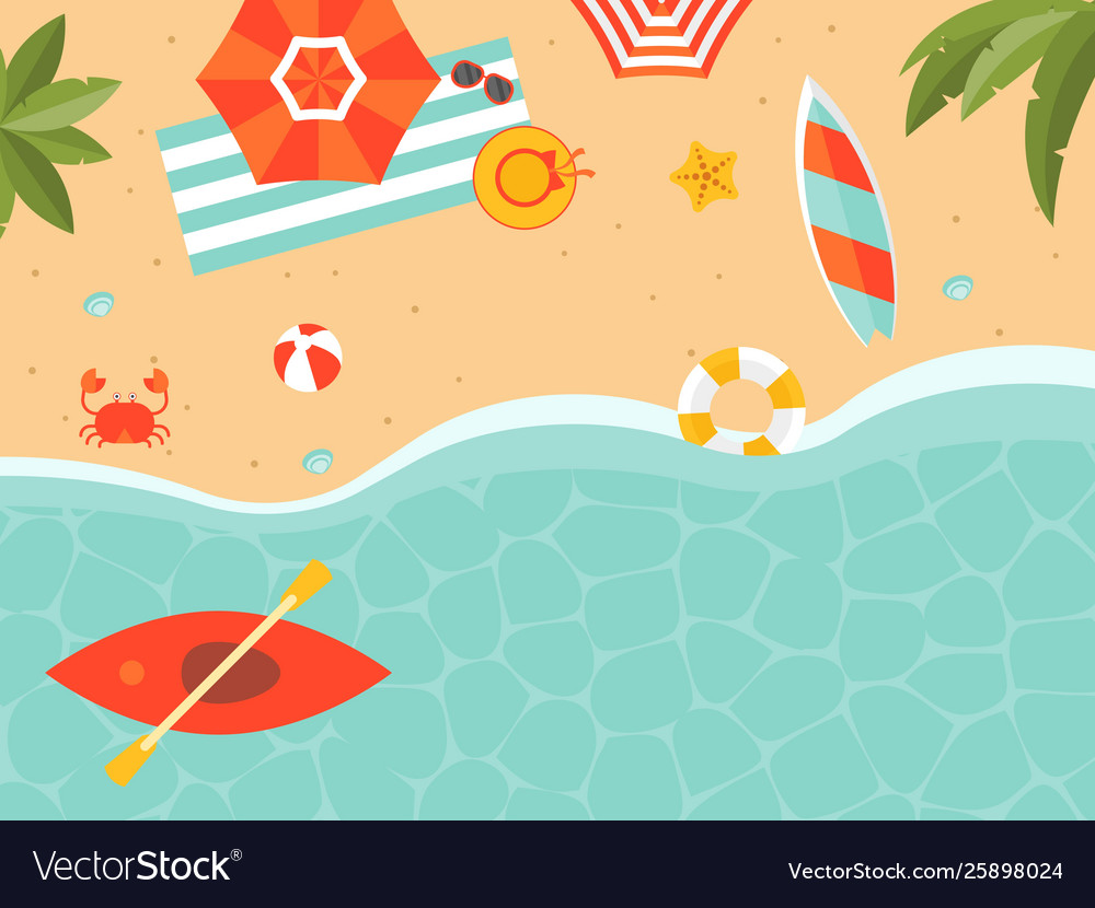 Summer vacation summer beach poster