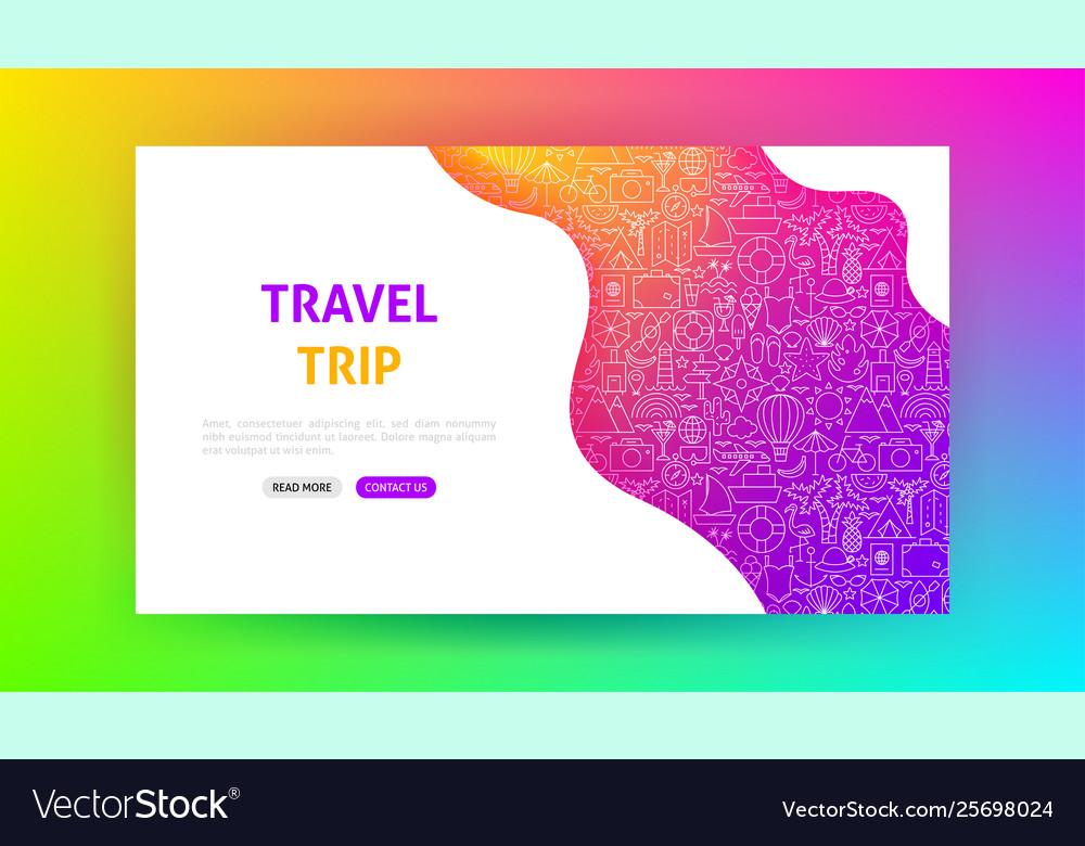Travel trip landing page