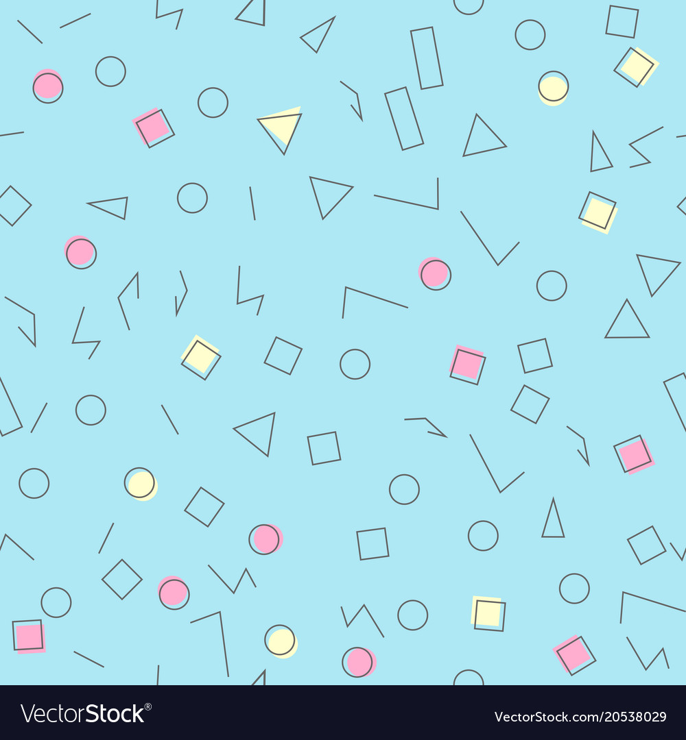 Colorful geometric seamless pattern different vector image