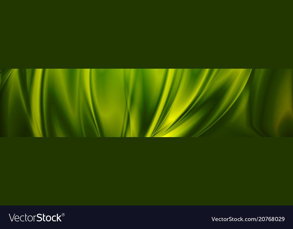 Magic emerald green smooth waves banner design