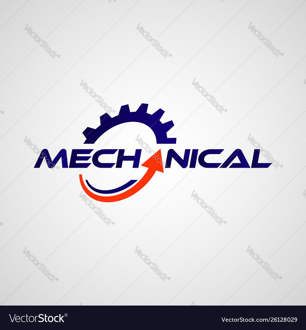 Mechanical gear logo design symbol