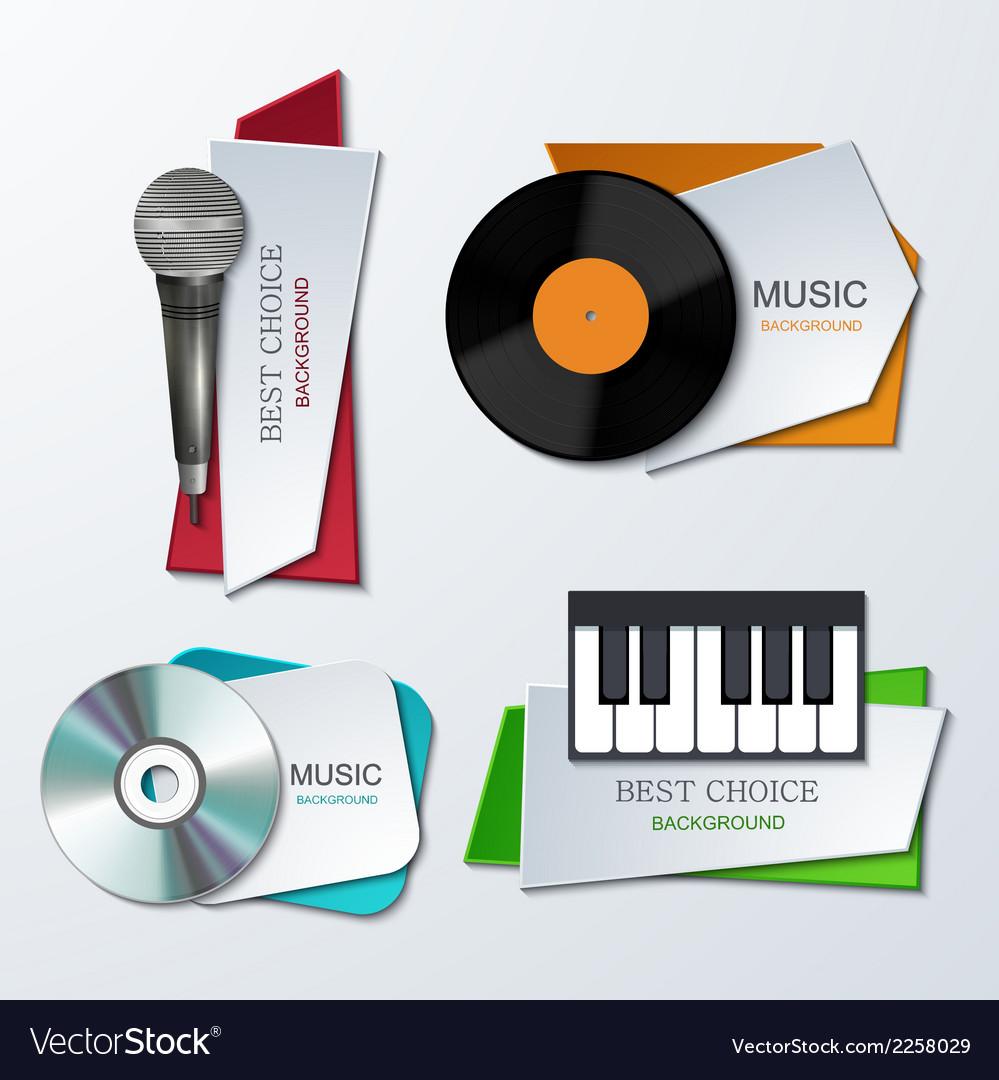 Modern music banners set vector image