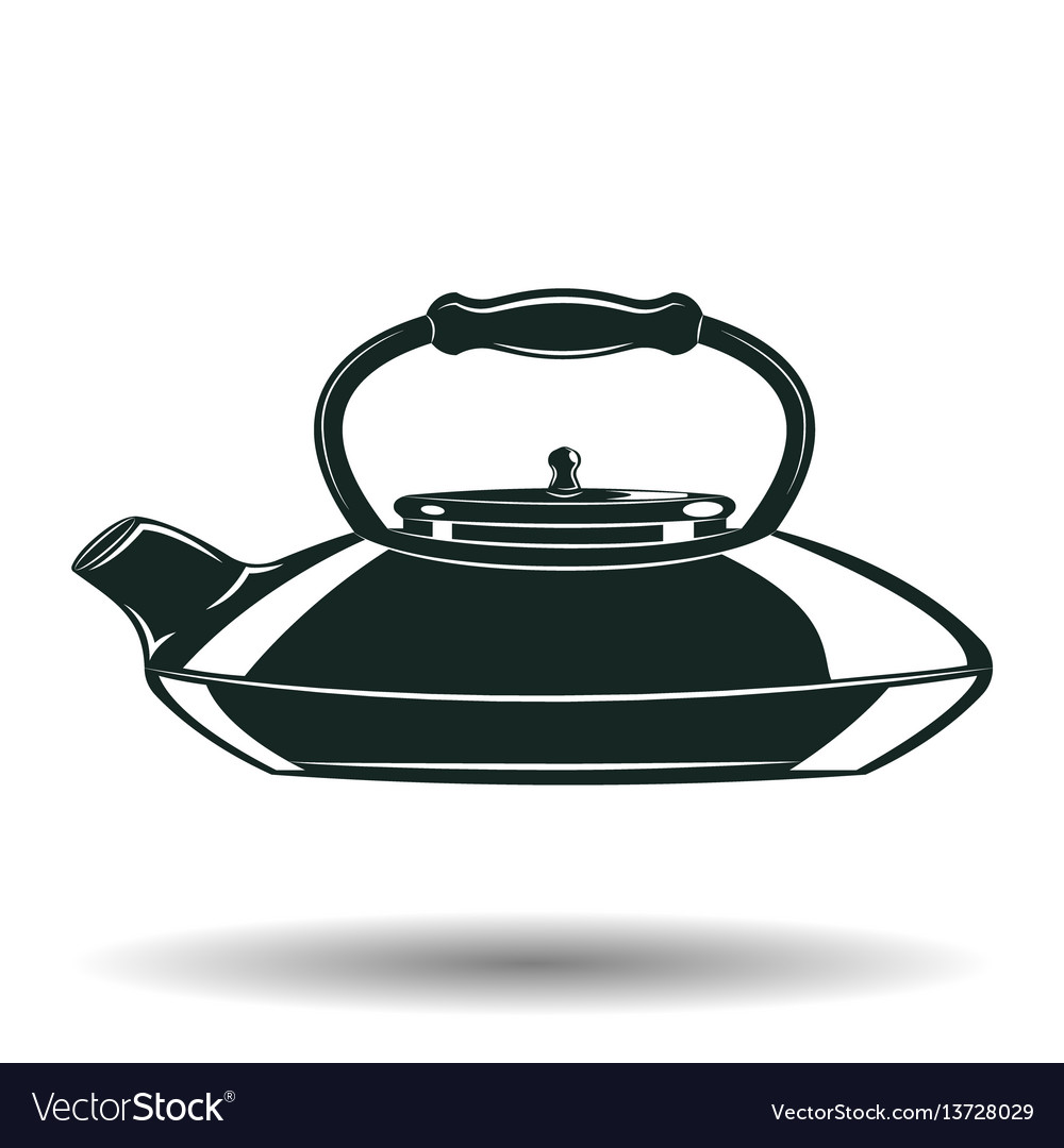 Monochrome kettle sign vector image