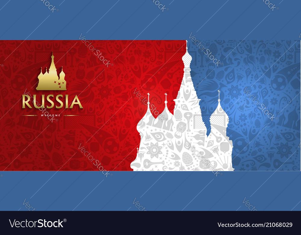 Russian Landmark Web Banner Of Special Sport Event