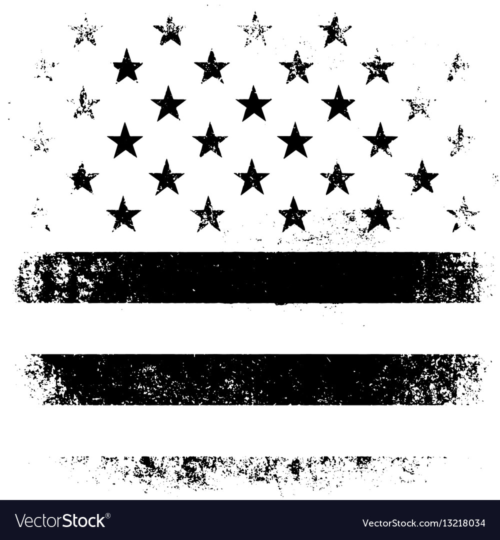 American Flag Background Grunge Aged Black vector image