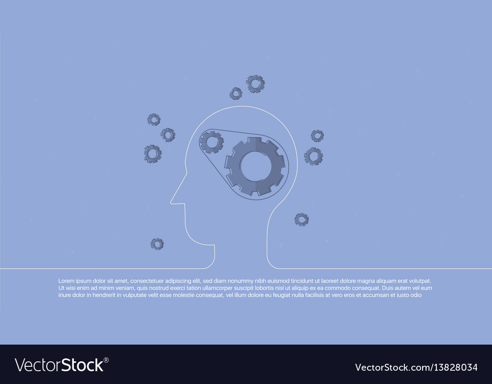 Background with target inscribed in line head vector image