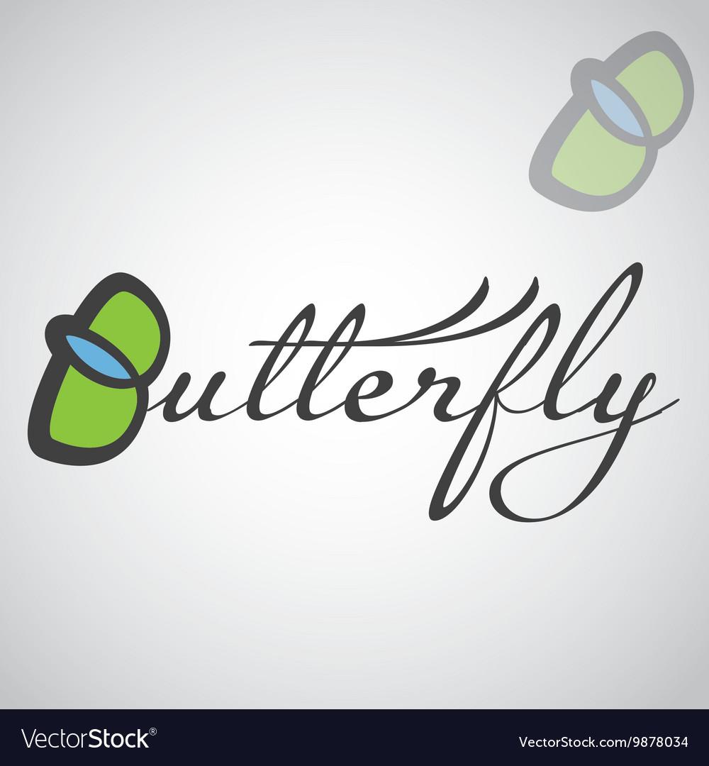 Butterfly logo design vector image