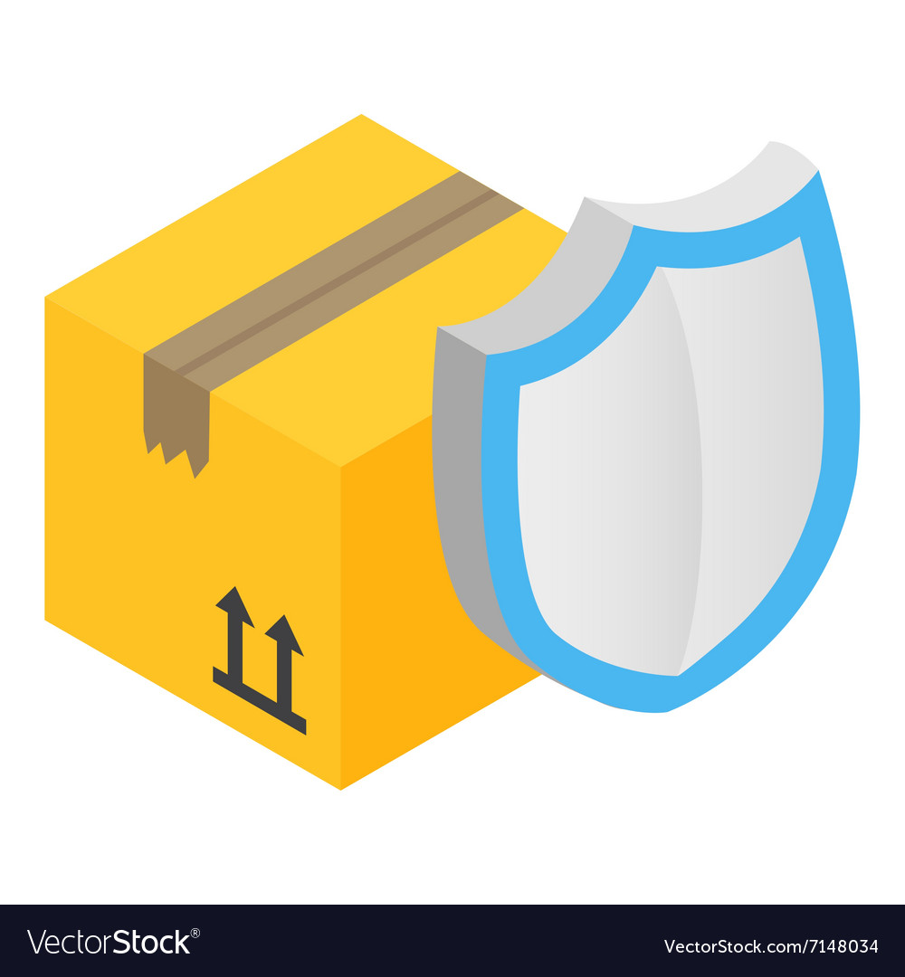 Cardboard box with protection shield