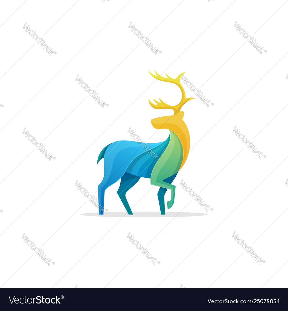 Caribou full color concept design template