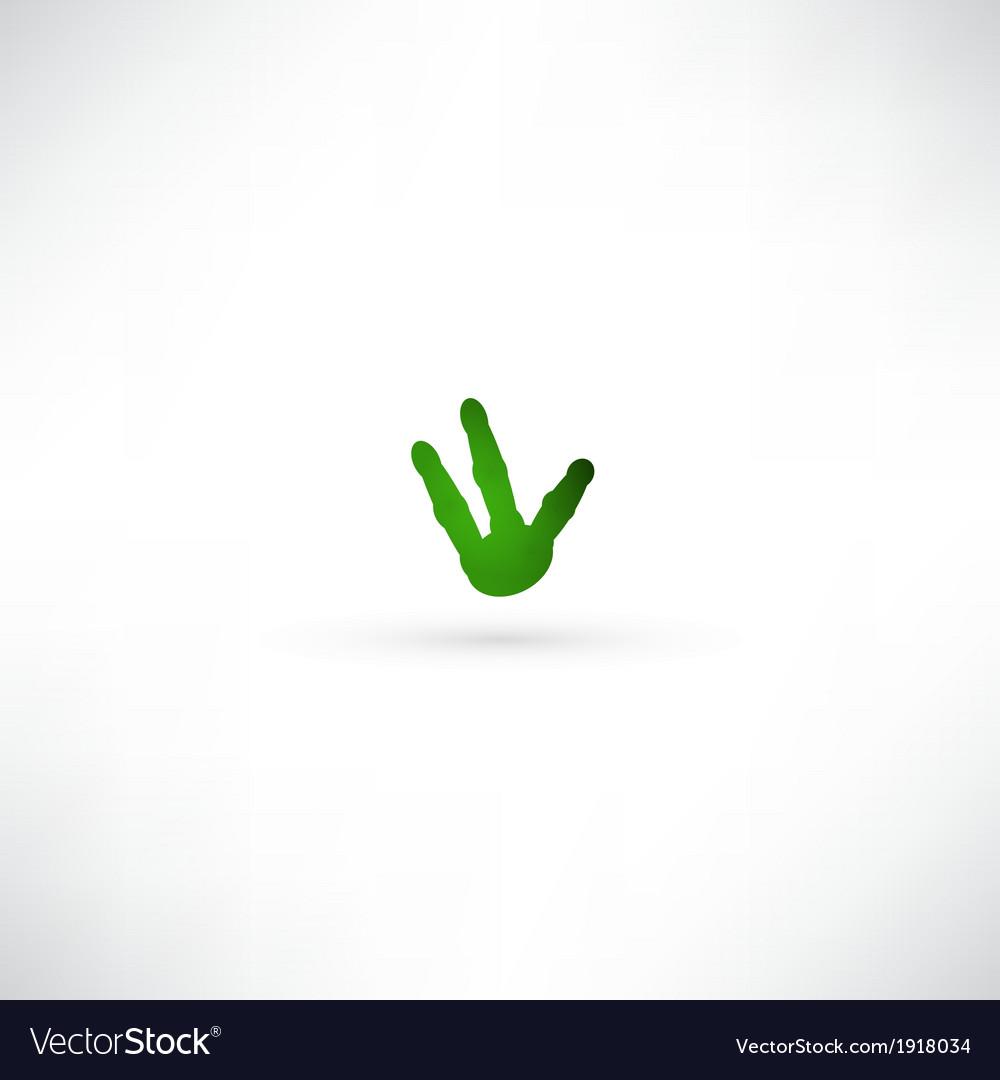 Green hand icon vector image