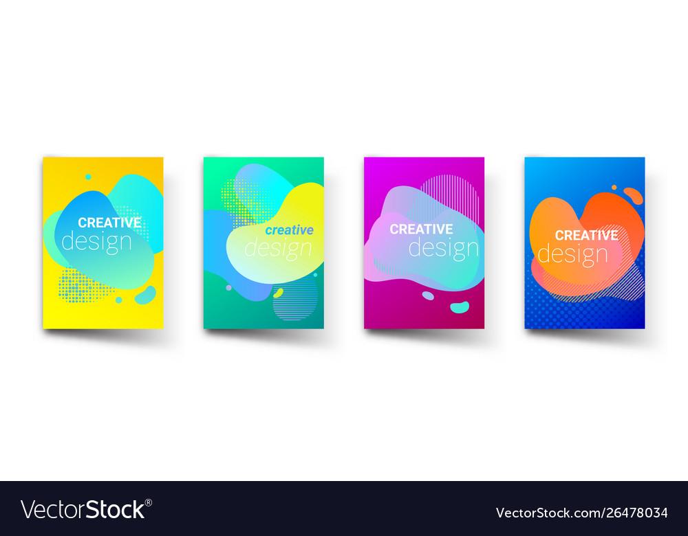 Liquid color gradient pattern background creative