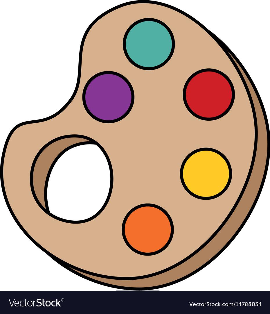 Paint palette symbol