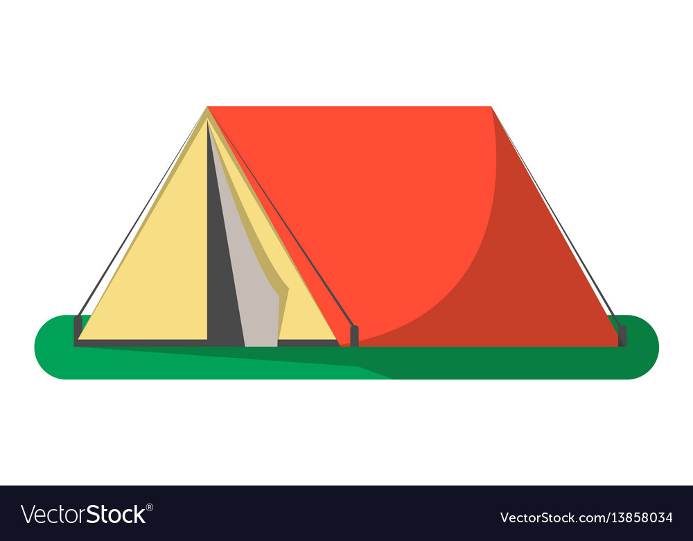 Triangle camping tent icon isolated
