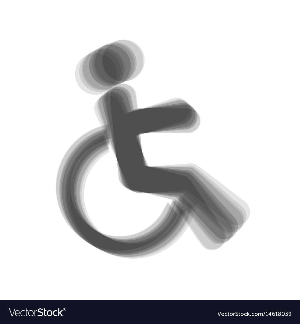 Disabled sign gray icon