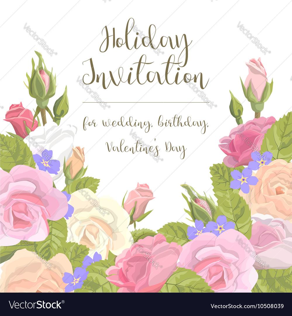 Greeting card flowers congratulations royalty free vector greeting card flowers congratulations vector image izmirmasajfo