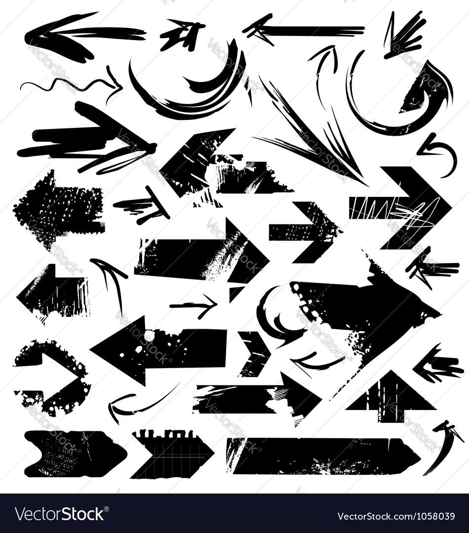 Grunge arrows