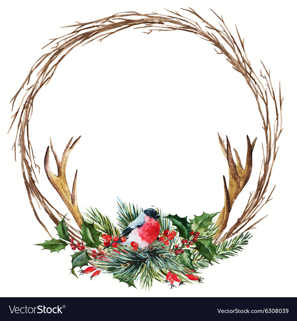 Lemon Watercolor Wreath Vector Images 44