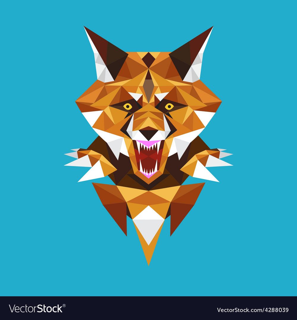 Wolf head polygon geometric