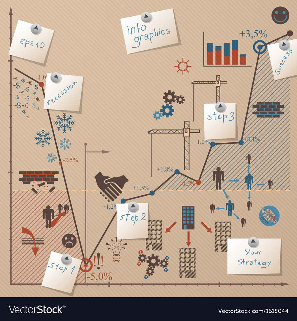 Background with graphicinfographic elements and