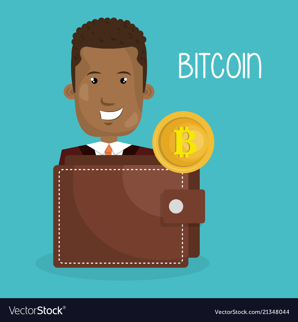 Businessman with bitcoin business