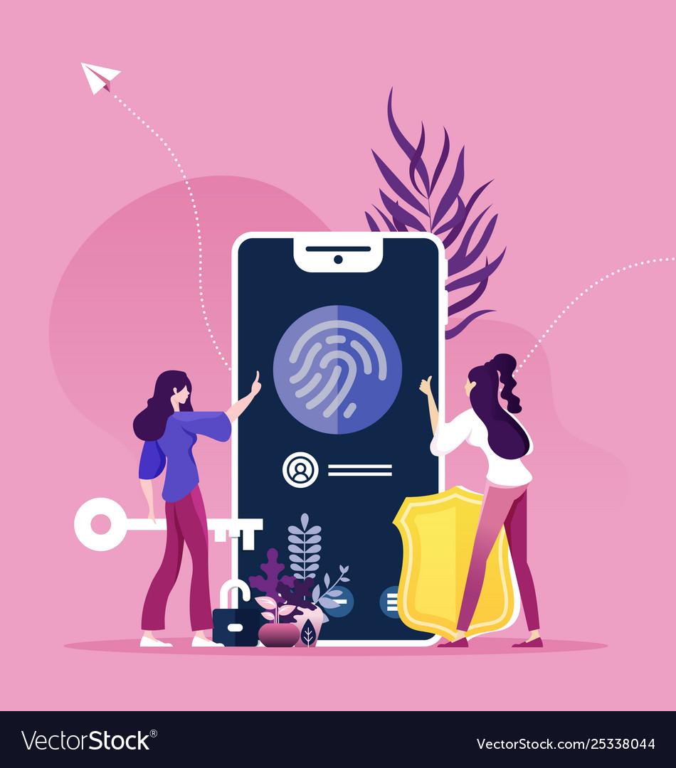 Finger recognition concept online security